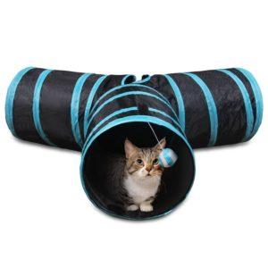 Un tunnel pour chat est un véritable parcours amusant !